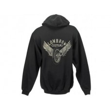 Lowbrow Customs Winged Wheel Mens Hooded Sweatshirt