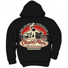 Chops's Place Zippered Hooded Sweatshirt