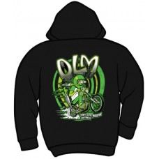 DLM - Dirty Love Magazine Zippered Hooded Sweatshirt