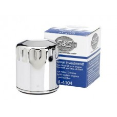 S&S Cycle Oil Filter Chrome '99 & Up Harley Davidson Big Twins S&S Cycle #31-4104