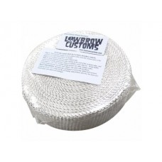 Lowbrow Customs White Exhaust Wrap Header Tape