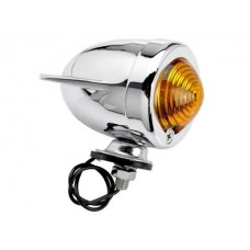 Cycle Standard Bullet Dual Fin Marker Light - Amber - Single Filament