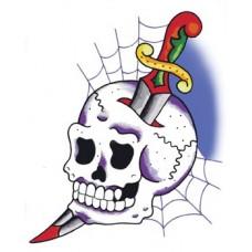 Cobweb Skull Sticker