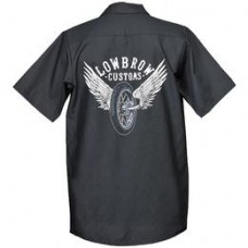Lowbrow Customs Winged Wheel Workshirt